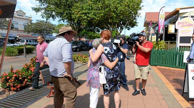 ON A MISSION: Pauline Hanson arrived in Childers on the Battler Bus to campaign with Burnett candidate Ashley Lynch and talk to the people.