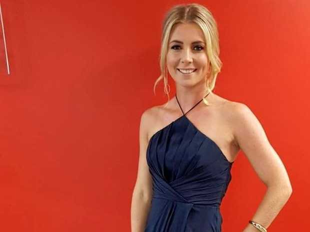 LIFE OF THE PARTY: 7 News Gold Coast sports presenter Katie Brown at the Commonwealth Games Charity Gala Dinner this week. The Grafton girl is back for a second year in a row to present the 2017 Clarence Valley Sports Awards this Saturday night at Yamba Golf and Country Club.