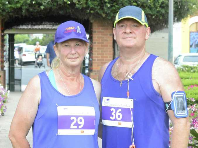 ABOVE: Kathie and Jose Alonso  lost 60kg between them in the past 12 months. The Jacaranda Fun Run was their first 10km race.