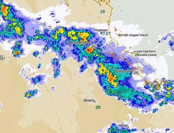 Bureau of Meteorology rainfall radar as of 7pm yesterday, November 7.