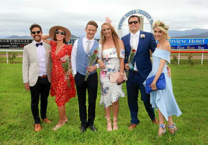 The finalists in the Fashion of the Field Couples Enjoying a day at the Tweed Daily News Cup during the Tweed River race day at Murwillumbah ;