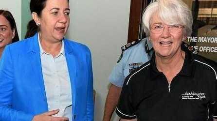 HAPPIER TIMES: Premier Annastacia Palaszczuk with former Rockhampton Mayor Margaret Strelow.