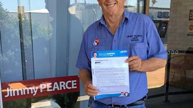 POSTAL BLUNDER: Current ALP Member for Mirani Jimmy Pearce was shocked to hear the wrong electorate campaign letters were turning up in residents mailboxes.
