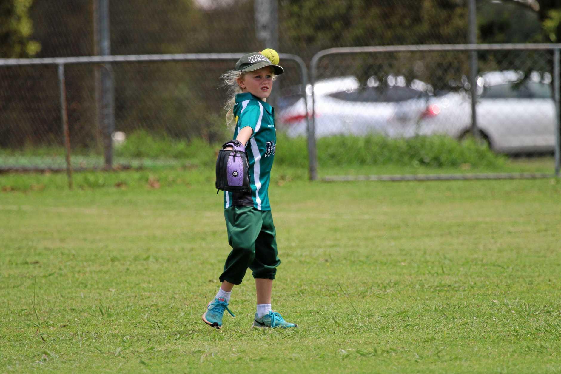 Addison Edards plays for the U9s Warriors Toowoomba Softball team.