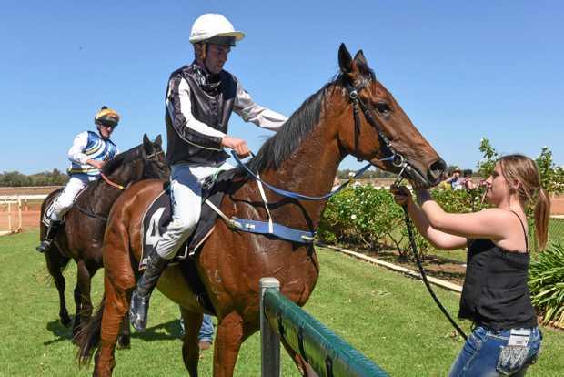 WINNER: Winner of race one Gravity force with jockey Martin Haley.