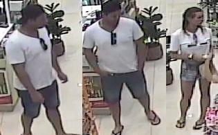 Police are asking for public assistance to identify two people seen in a Coolum pharmacy on David Low Way on November 5.