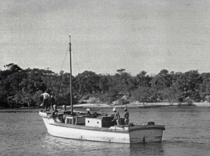 HISTORY: The Voyager, Evans Paddon's trawler in 1946.