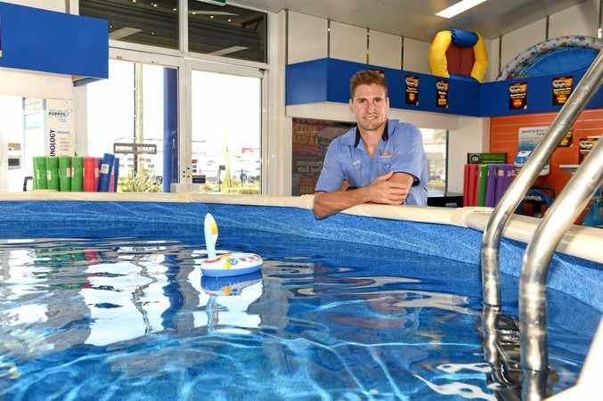 SWIM: Dean Webb from Swimart Tweed Heads, making a splash in business by winning numerous awards.