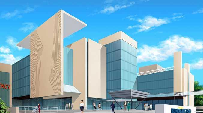 An artists impression of a new Bundaberg hospital.