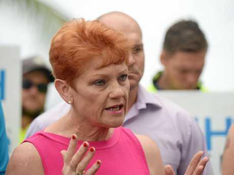 Pauline Hanson talks about a casino licence for GKI in Yeppoon.