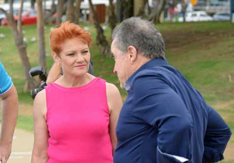 Pauline Hanson and Terry Agnew in Yeppoon.
