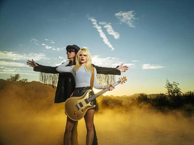 Richie Sambora and Orianthi.