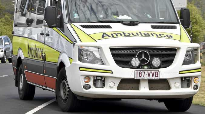 Paramedics are responding to a reported collision between a vehicle and pedestrian.