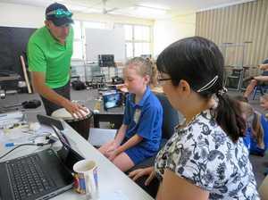Robotics lesson for Ambrose State School