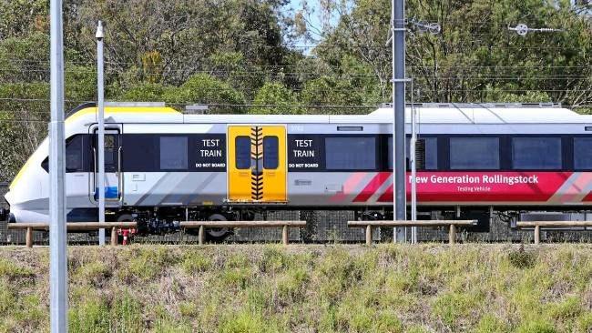 A New Generation Rollingstock test train in Ipswich.