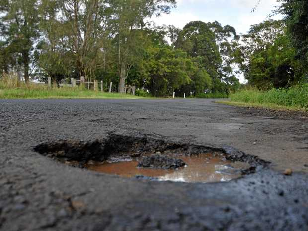 Lismore roads are suffering pothole fever after recent floods and weather events.