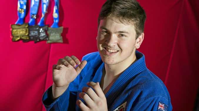 MEDAL HAUL: Brazilian jiu jitsu martial artist Kahn Asgill won gold, two silver and bronze medals at the 2017 Pan Pacific Jiu Jitsu Championships in Melbourne.