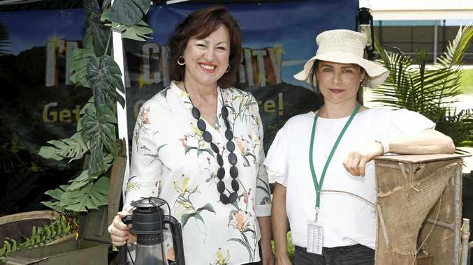 GRATEFUL: Tweed Palliative Support's Liza Nagy and ITV's Lanie Loughlin.