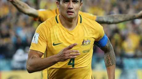 Tim Cahill is an expert at playing a straight bat.