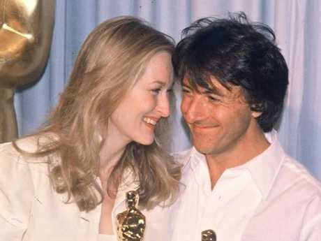 Meryl Streep and Dustin Hoffman at the 1980 Academy Awards. Photo: Bertrand Rindoff Petroff/Getty Images
