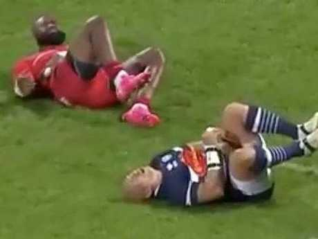 Former Eels star Semi Radradra was involved in a bizarre incident in French rugby.