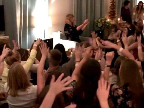Tayor Swift invites 500 fans to her home to preview her latest album Reputation. Picture: Supplied