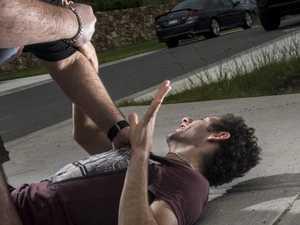 Man begged drunk woman to stop bashing him