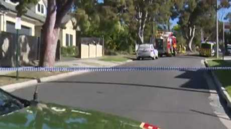 "Police say the BMW did not stop and ""fled the scene"". Picture: Channel 9"