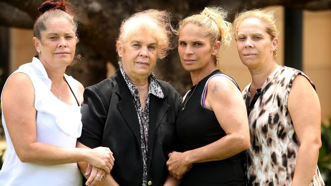 The family of their Lynette Daley: sister Joanne Daley, mother Thelma Davis, sisters Tina Daley and Pauline Davis. Picture: Nathan Edwards