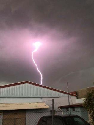 Lightning over Bundaberg.