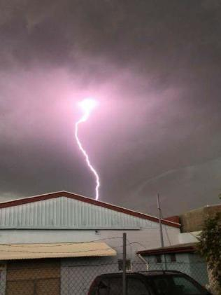 Lightning over Bundaberg.