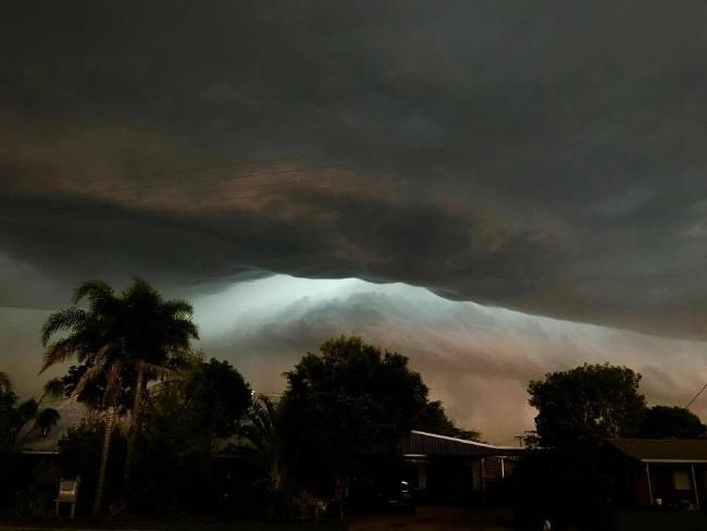 The storm brought winds of up to 98km/h in Bundaberg.
