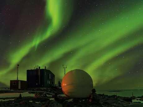 The aurora australis at Davis Station in Antarctica
