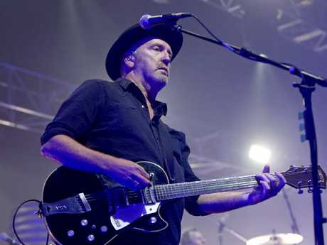 Midnight Oil guitarist Jim Moginie performs in Tasmania earlier this month. Picture: Patrick Gee