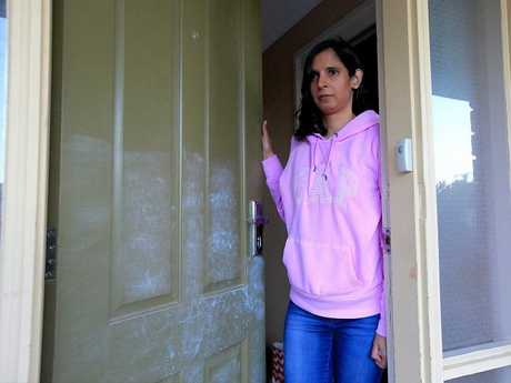 Scoresby resident Sue fended off attackers at her door. Picture: Mark Stewart