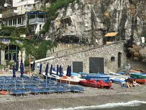 Thrill-seekers dive off cliffs on the Amalfi Coast