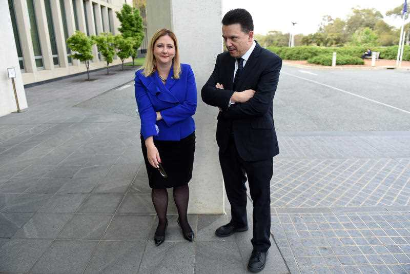 NXT Member for Mayo Rebekha Sharkie and Nick Xenophon Team leader Senator Nick Xenophon