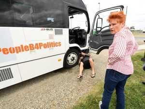 One Nation's Battler bus breaks down near Mackay