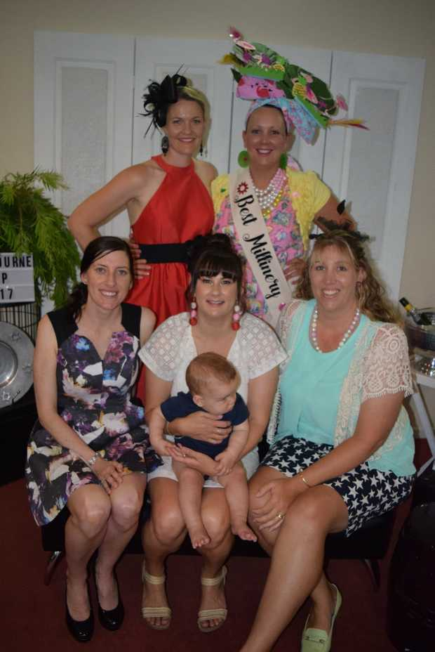 Image for sale: Carmel Wilton, Amie McDougall, Angela Watson, Sally Wilkie with Tom and Kim Roylance.