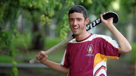 Jarrod Bass preparing to represent the Queensland under-18 team in 2011.