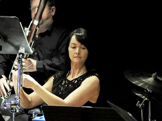 ENSEMBLE: On percussion, Amanda Falvey with the Lismore Symphony Orchestra