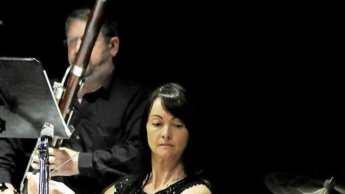 ENSEMBLE: On percussion, Amanda Falvey with the Lismore Symphony Orchestra