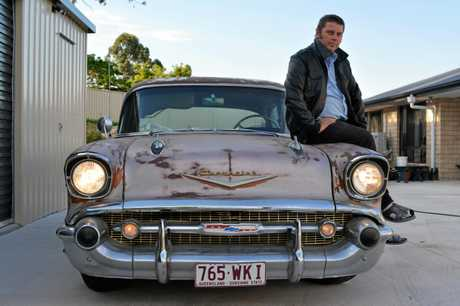 CLASSIC BEAUTY: Dave Edwards of Laidley Heights shows off his 1957 Chevrolet Belair