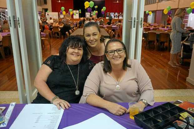 LEADER: Sheree Crawford, Candice McKie and Emma Beale at the Clermont Bears Calcutta and Auction fundraiser hosted in July.