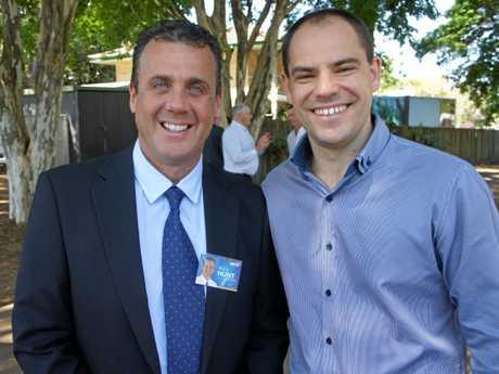 Marty Hunt (left), LNP candidate for Nicklin.