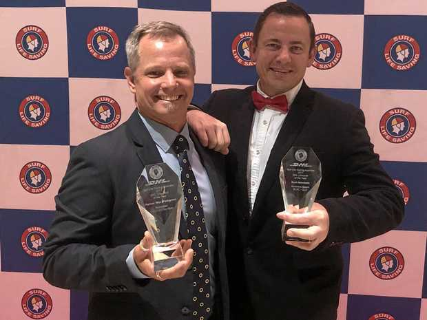 DYNAMIC DUO: The best in the land of lifesaving - Max Pettigrove and Scott Summers of Sunshine Beach SLSC.