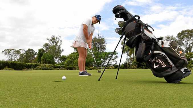 Aimee Harvey at the Bundaberg Golf Club.