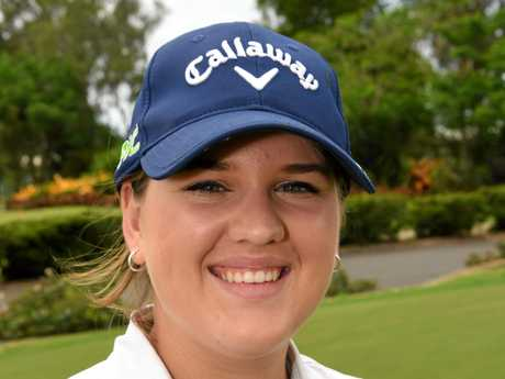 Aimee Harvey at the Bundaberg Golf Club.