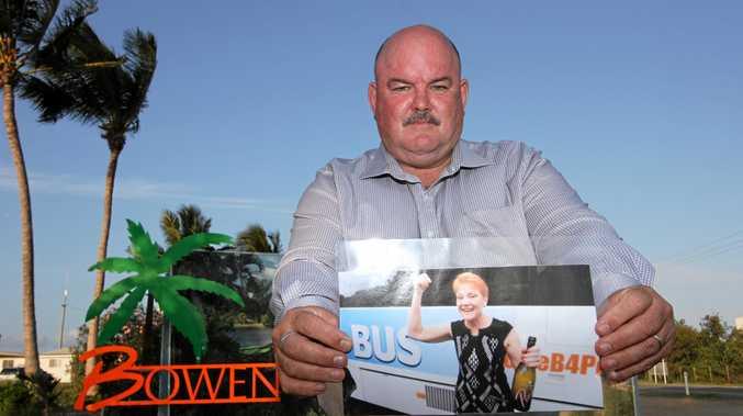 ALP candidate for Burdekin Mike Brunker said Pauline Hanson was not welcome in Bowen.