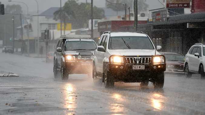 Rain coming down in Sarina